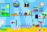 Poisson rouge, site de jeux gratuits pour les petits enfants